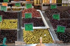 Mercado do alimento de Vlali ou de Kapani em Tessalónica imagem de stock