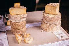 Mercado do alimento do queijo Fotografia de Stock Royalty Free