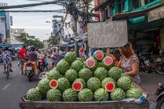 Mercado do alimento, Vietnam imagens de stock