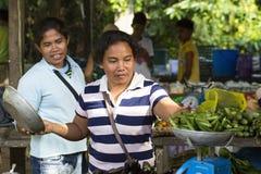 Mercado do asiático da vila Imagens de Stock