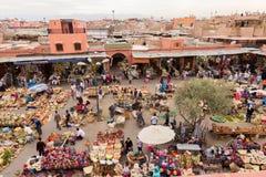 Mercado do Berber de C4marraquexe fotos de stock