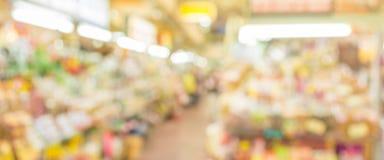 mercado do borrão Fotografia de Stock