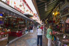 Mercado do centro da herança do bairro chinês de Singapura Fotografia de Stock Royalty Free