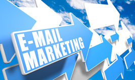 Mercado do email Fotos de Stock Royalty Free