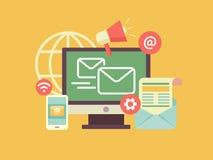 Mercado do email Imagem de Stock Royalty Free