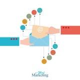 Mercado do email Ilustração do Vetor