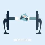 Mercado do email conceptual Ilustração Royalty Free