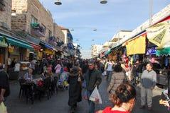 Mercado do Jerusalém, comprando Foto de Stock