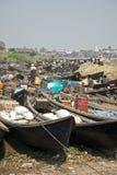 Mercado do lago Inle Imagem de Stock