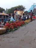 Mercado do lichi Imagens de Stock