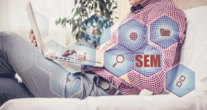 Mercado do motor da SEM-busca Conceito da estratégia empresarial Foto de Stock