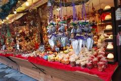 Mercado do Natal Foto de Stock Royalty Free