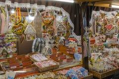 Mercado do Natal Fotos de Stock