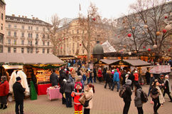 Mercado do Natal Imagens de Stock Royalty Free