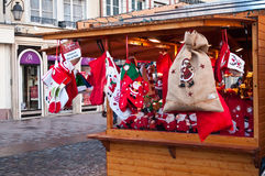 mercado do Natal da decoração do traditinal Fotografia de Stock