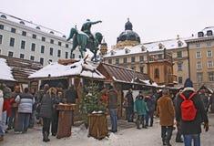 Mercado do Natal da Idade Média em Munich fotografia de stock