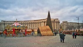 Mercado do Natal de Bucareste Fotografia de Stock Royalty Free