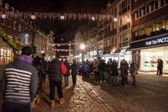 Mercado do Natal em Aix-la-Chapelle Imagens de Stock Royalty Free