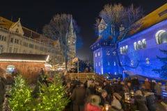 Mercado do Natal em Bransvique Fotografia de Stock Royalty Free
