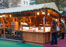 Mercado do Natal em Budapest Fotografia de Stock