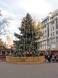 Mercado do Natal em Budapest Imagens de Stock