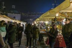 Mercado do Natal, em dezembro de 2016 Fotografia de Stock