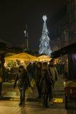 Mercado do Natal, em dezembro de 2016 Imagens de Stock