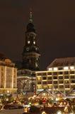 Mercado do Natal em Dresden imagens de stock