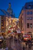 Mercado do Natal em Dresden fotos de stock royalty free