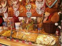 Mercado do Natal em Dresden no quadrado de Altmarkt, Alemanha, 2013 Fotografia de Stock Royalty Free