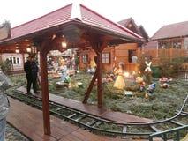 Mercado do Natal em Dresden no quadrado de Altmarkt, Alemanha, 2013 Imagens de Stock