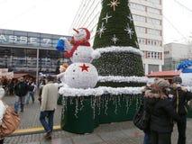 Mercado do Natal em Dresden no quadrado de Altmarkt, Alemanha, 2013 Fotografia de Stock
