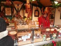 Mercado do Natal em Dresden no quadrado de Altmarkt, Alemanha, 2013 Fotos de Stock