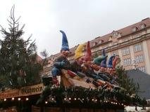 Mercado do Natal em Dresden no quadrado de Altmarkt, Alemanha, 2013 Foto de Stock