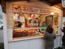 Mercado do Natal em Dresden no quadrado de Altmarkt, Alemanha, 2013 Imagem de Stock Royalty Free