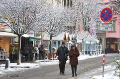 Mercado do Natal em Dusseldorf Fotografia de Stock