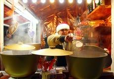 Mercado do Natal em Kyiv Imagens de Stock