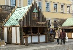 Mercado do Natal em Munich, Alemanha Fotografia de Stock
