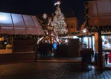 Mercado do Natal em Praga Imagens de Stock Royalty Free