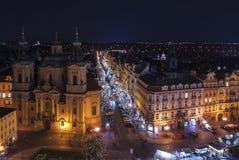 Mercado do Natal em Praga Imagens de Stock