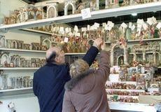Mercado do Natal em Roma Imagem de Stock