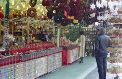 Mercado do Natal em Roma Fotografia de Stock