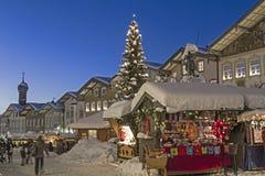 Mercado do Natal em Toelz mau fotografia de stock