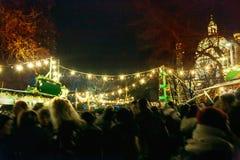 Mercado do Natal em Viena imagens de stock