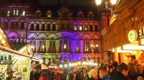 Mercado do Natal, Manchester, Inglaterra Imagens de Stock Royalty Free