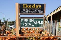 Mercado do país de Ikedas Califórnia Fotos de Stock Royalty Free