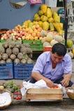 Mercado do Peru foto de stock