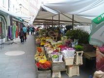 Mercado do quadrado Foto de Stock Royalty Free