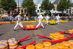Mercado do queijo Foto de Stock