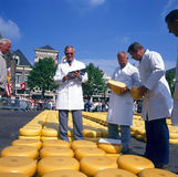 Mercado do queijo de Alkmaar Fotografia de Stock